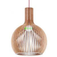 工厂热销原木木艺吊灯 现代简约走廊楼道照明灯具 山姆吊灯