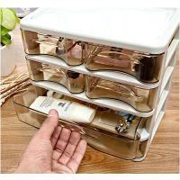 定制亚克力化妆品首饰桌面收纳盒 抽屉式整理盒 柜多层透明塑料小号