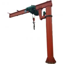 码头用物料调运设备亚重BZD2定柱式悬臂起重机,手柄操作,环链葫芦起升