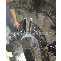 简约风格别墅楼梯装饰铝板雕刻镂空花格钛金楼梯护栏