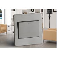 西蒙子86型银色墙壁开关A4系列一开单控单联单控不锈钢墙壁面板开关插座