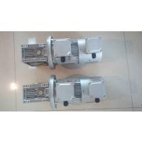 河南漯河输送流水线设备用上海欢鑫涡轮减速机RV063/15+变频0.75KW电机