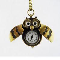 复古猫头鹰怀表毛衣挂件表猫头鹰挂表钥匙扣表装饰表 双纹张翅鹰