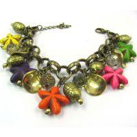 欧美经典热销款  绿松石 海星复古大链条手链