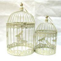 欧式铁艺做旧复古鸟笼婚庆橱窗装饰挂饰摆设摆件拍摄道具假花花架