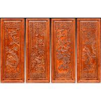 木质工艺品东阳木雕壁挂条屏香樟木条屏中式条屏玄关背景挂件