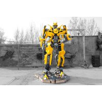 大型变形金刚雕塑机器人大黄蜂铁艺 商场房地产车展活动出租摆件