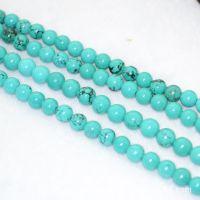 供应批发 天然水晶 绿松石半成品散珠4-16mm可穿手链 项链饰品