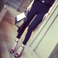 2015春装新款 小银子韩版韩版修身显瘦弹力铅笔小脚裤厂家直销S