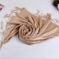 2015新款暗纹小玫瑰围巾 女士纯色超长提花棉麻防晒围巾 现货批发
