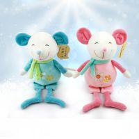 青岛均阳卡通8寸水晶超柔新款小子鼠毛绒玩具儿童抓机娃娃鼠公仔厂家批发