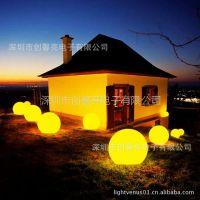 供应LED全彩球型灯 遥控式七彩防水球  塑料圆球灯厂价热批