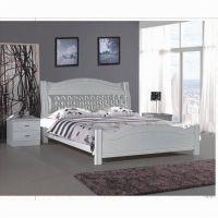 新款家居欧式系列床 1.8米橡木床 欧式风格双人床、婚床 真皮软靠