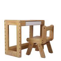 儿童家具 实木学习桌椅套装 升降儿童书桌 学生必备 实木写字桌
