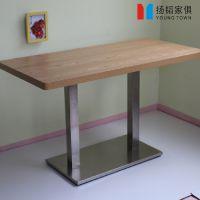 欧式复古实木餐桌餐厅桌椅 咖啡厅餐桌椅组合 铁艺桌椅批发