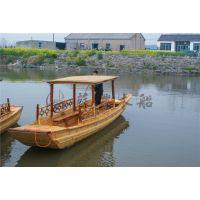 6米农用单蓬船 单蓬手划木船 户外观光赏景木船 湖面双桨手划船