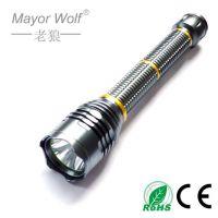 厂家批发 强光手电筒 t6 led铝合金 10w大功率户外登山探照手电筒