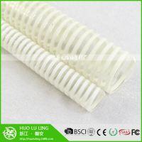 厂家批发 76mm内径PVC透明塑料筋通风管 PVC加强平筋塑料通风管
