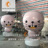 上海升美海狸模型 专业卡通动物模型定制 玻璃钢雕塑 美陈展览摆件