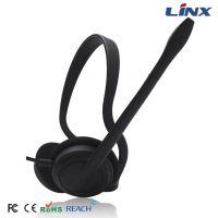 厂家热销 LX-T10 红绿双插头 后挂式电脑耳机 电脑游戏耳机
