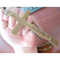 faith believe/我相信/信任/十字架毛衣链/H000290
