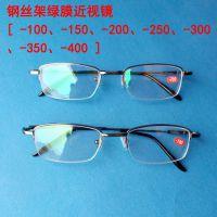 新款时尚男女款钢丝 超轻半框眼镜框 钢丝近视合金金属眼镜架批发