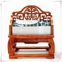 【古迹印象】红木工艺品 宝座红木名片座 创意商务开业办公室摆件