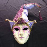 供应威尼斯风格豪华全脸面具手绘环保纸浆面具加工