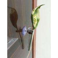 金翼直销带金属罗叉吸盘迷你花瓶有机玻璃夹试管橱窗卡位小花瓶