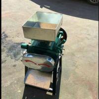 小型粮食加工坊专用挤扁 黄豆青豆压片机 杂粮破碎机 圣通