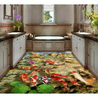 3D地板背景 厨房卫生间阳台地板酒店别墅背景墙瓷砖定制