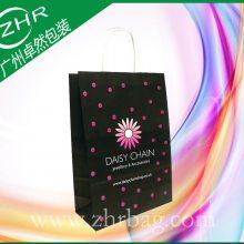 厂家订做首饰香水环保纸包装购物袋 精美印刷贴纸手提礼品牛皮纸袋