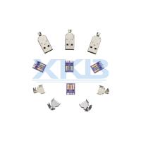 华为大电流快充USB连接器 蓝胶USB三件式连接器接口