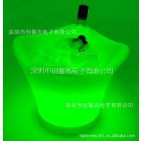 供应淘宝热卖 酒吧花型香槟桶 led发光冰桶 超值热批!