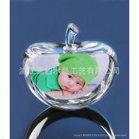 厂家直销水晶苹果 DIY照片 送朋友生日结婚礼物 创意 实用礼品