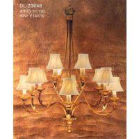 供应美式精美客厅吊灯高档奢华水晶灯法式铜灯