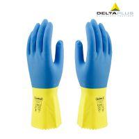 正品代尔塔201330劳保手套 抑菌型乳胶防化手套 家用防护手套
