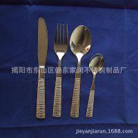 不锈钢西餐具 5件套 厂家批发 酒店餐厅用品 厂家批发刀叉匙JR206