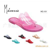 地摊批发 新款闪亮水晶塑料凉鞋 坡跟鸟巢 雨鞋 果冻鞋