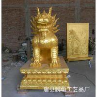 铸铜麒麟雕塑 铜麒麟加工 镇宅麒麟 大型铜麒麟