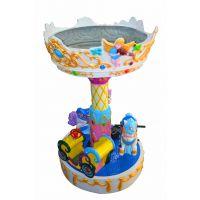 广场大型户外儿童游乐设备三人旋转木马厂家供应出售