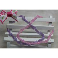 外贸饰品 原单女童手链 可爱珍珠手链 手饰物 紫色水晶珍珠手链