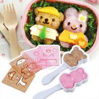 日本Arnest换装娃娃饭团模具套装 便当盒做寿司模盒 烘焙DIY工具