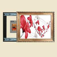 欧式框装饰画推拉式电表箱装饰画配电箱遮挡画D993