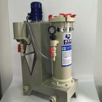 耐高温化学镍药液过滤机 PP PVDF立式耐高温过滤泵 铁氟龙材质 小型电镀设备批发