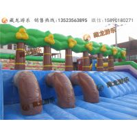 气模玩具为客户经营生意带来了更多的利润,同样也促进了户外游乐设备市场的进一步发展