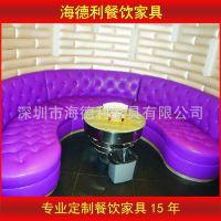 厂家直销 欧式皮制半圆形沙发 KTV酒吧高档会所沙发定做