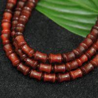 厂家直销 自然印度小叶紫檀 精品竹节108颗佛珠手链 老料小孔佛珠