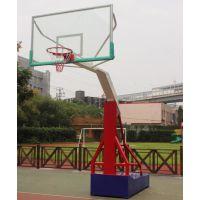 移动式平箱青少年篮球架 户外篮球架 可升降标准篮球架配弹簧篮筐