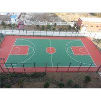 东区篮球场地面施工 带颜色的篮球场制作步骤 篮球场铺设